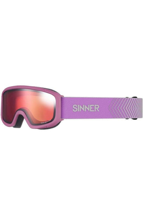 Sinner Skibril Duck Mountain Middenroze/Oranje