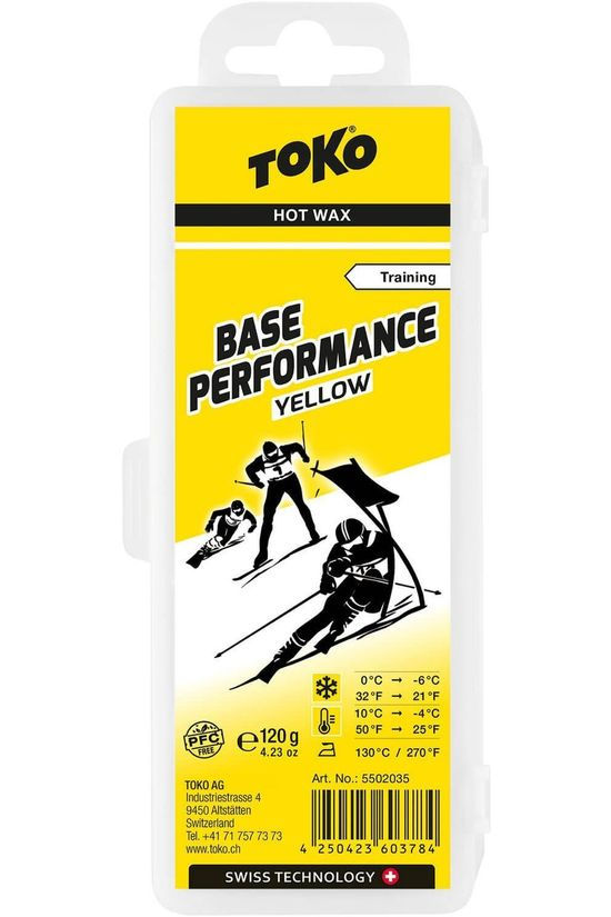 Toko Maintenance Base Performance Hot Wax Yellow 120g No colour / Transparent