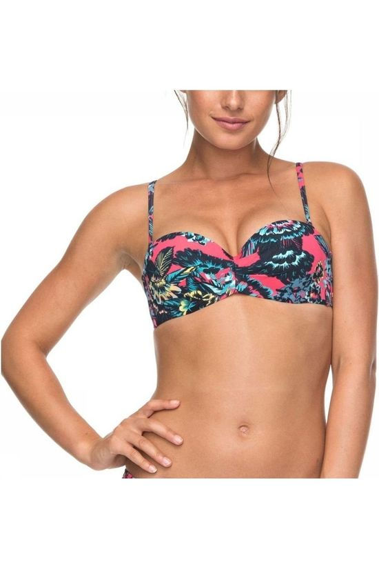 Roxy Bh Saltyy Molded Bandeau Middenrood/Ass. Bloem