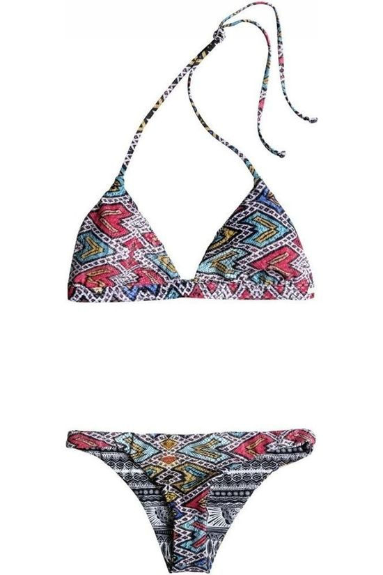 Roxy Bikini Poet Mexic Ft/S J  Bla6 Black/Assorted / Mixed