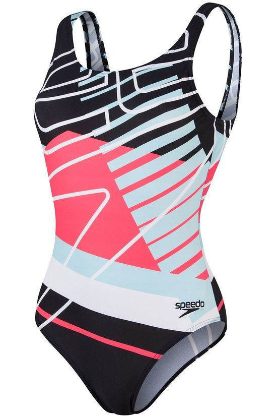 Speedo Bathing Suit Dig Placem Ub Black/Assorted / Mixed