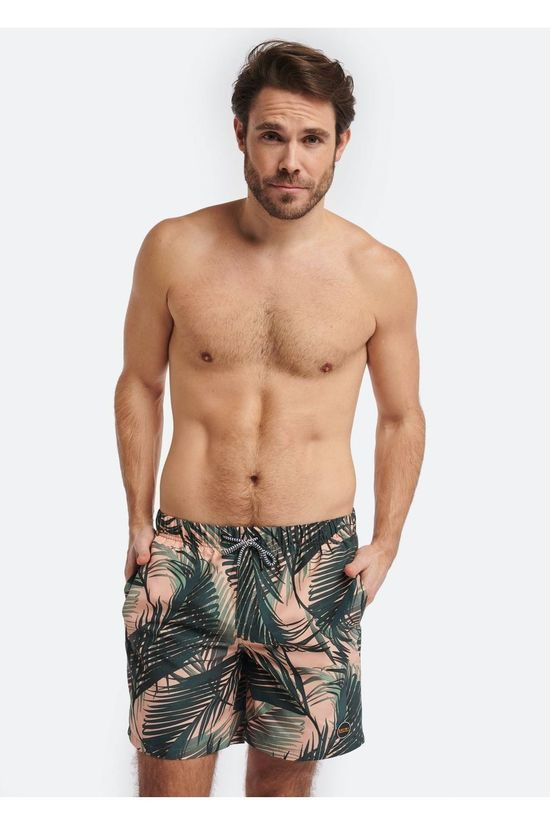 Shiwi Short De Bain Men Foliage Orange/Ass. Fleur