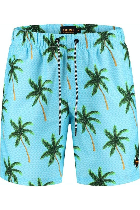 Shiwi Swim Shorts Painted Palms Turquoise/Ass. Flower