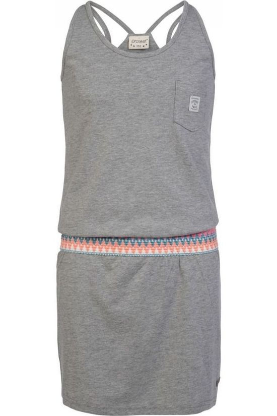 Protest Dress Tingle Light Grey Marle