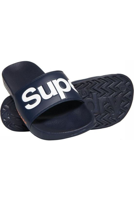 Superdry Slipper Classic Superdry Pool Slide Marineblauw
