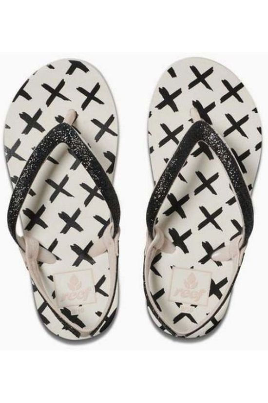 Reef Flip Flop Little Stargazer Prints off white/black