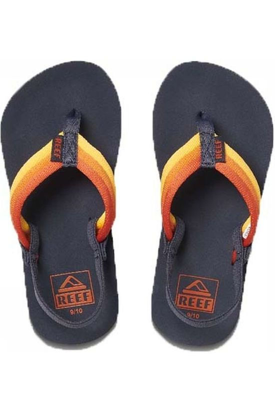Reef Flip Flop Little/Kids Ahi Beach yellow/red