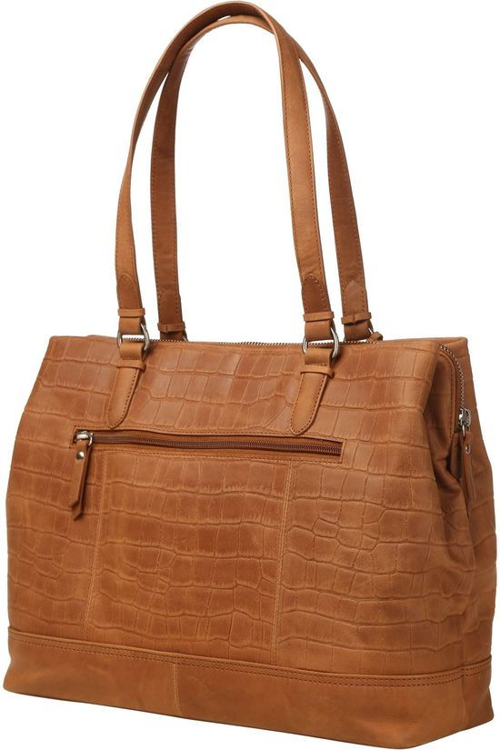 Burkely Bag Croco Caia Handbag M Camel Brown