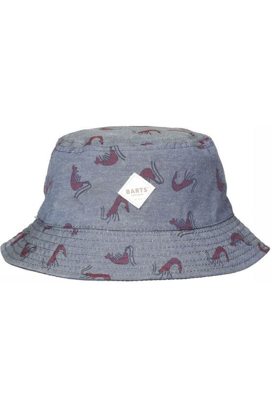 Barts Hat Antigua Blue (Jeans)/Red