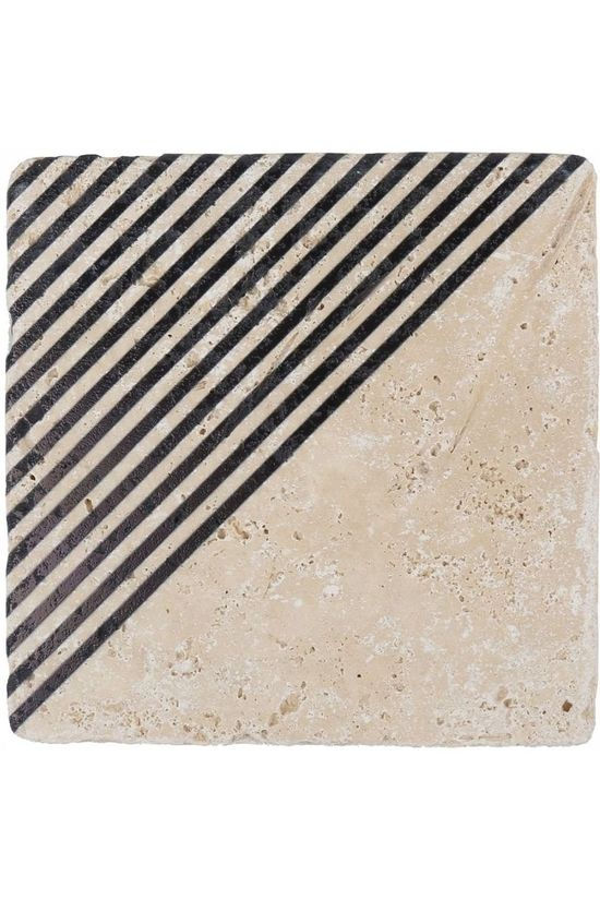 Yaya Home Printed Tile Angle Stripes Assorti / Gemengd