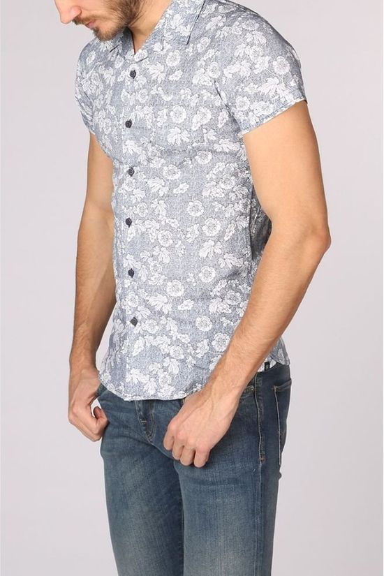 Dstrezzed Shirt 311134 dark blue/Assortment Flower