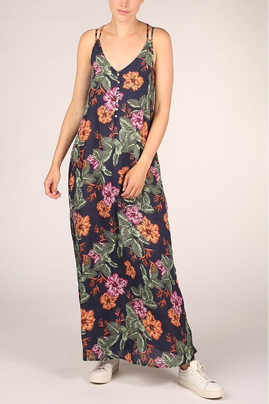 O'Neill Dress Lw Belinda Aop Long Dress Navy Blue/Ass. Flower