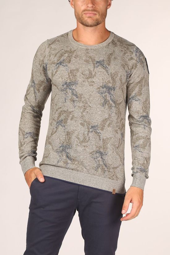 PME Legend Pullover Pkw205321 Light Grey Mixture/Assortment Flower