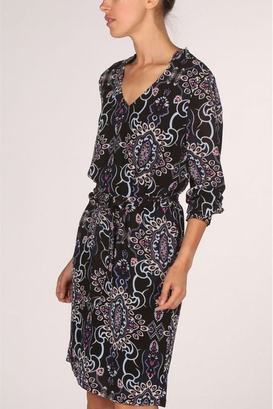 Yaya Dress Floral Paisley Print black/Assortment Geometric