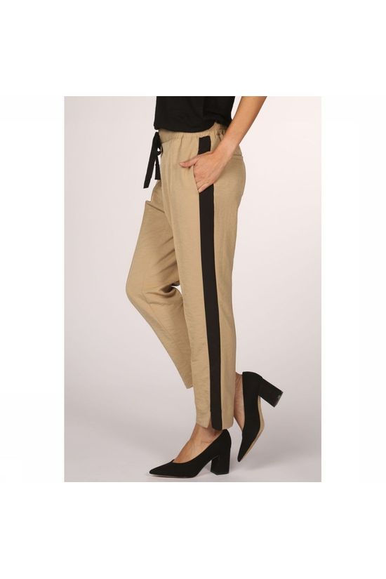 Yaya Trousers Jogger Pant With Elastic Waistband Sand Brown