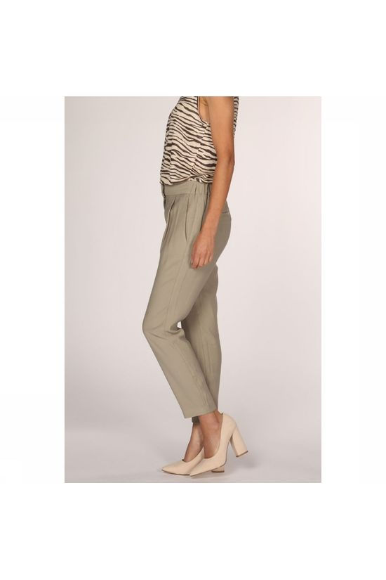 Yaya Broek Pastel Colored Relaxed Middenkaki