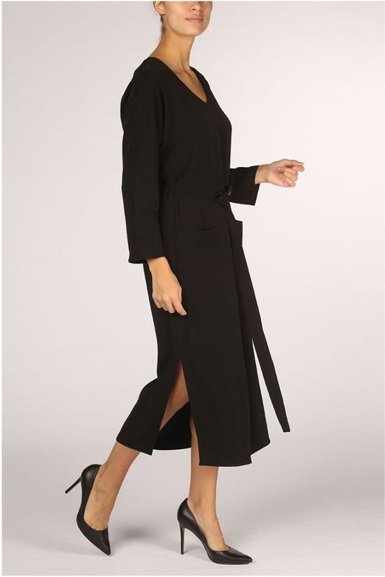 Yaya Robe With Pockets And Belt Noir