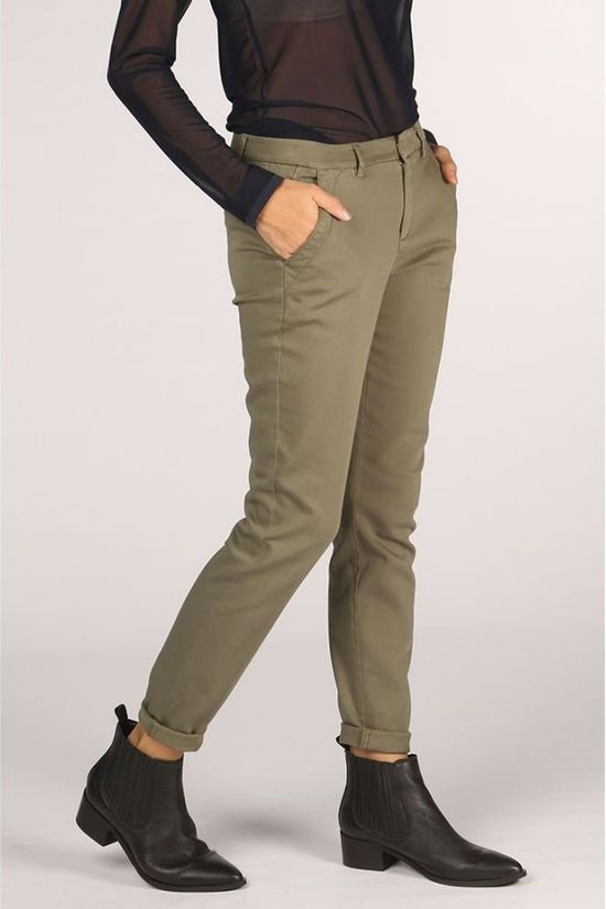 Yaya Broek Basic Chino Middenkaki