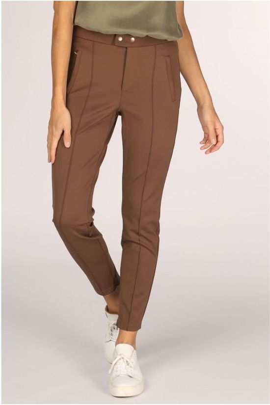 Yaya Trousers Sporty Tregging dark brown