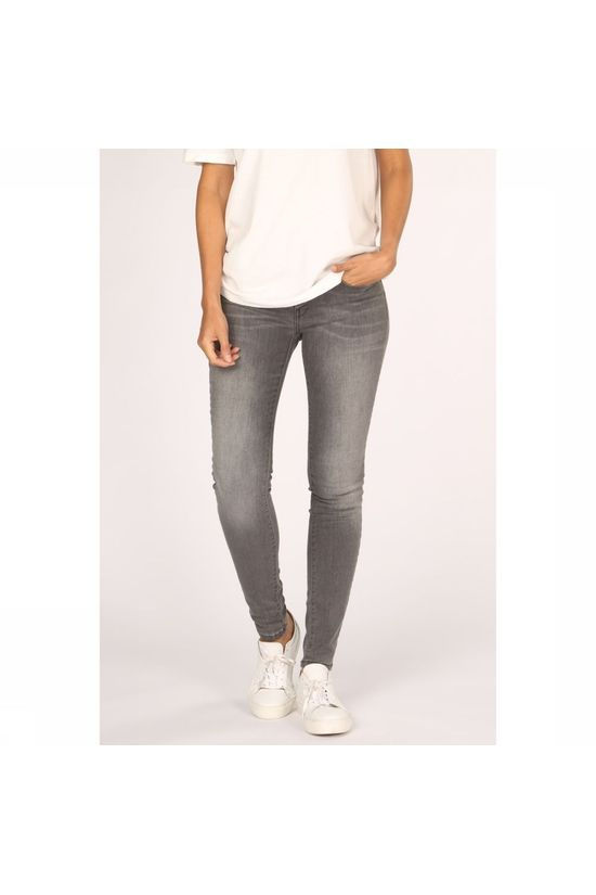 Yaya Jeans Basic Skinny 5-Pocket With Stretch Middengrijs