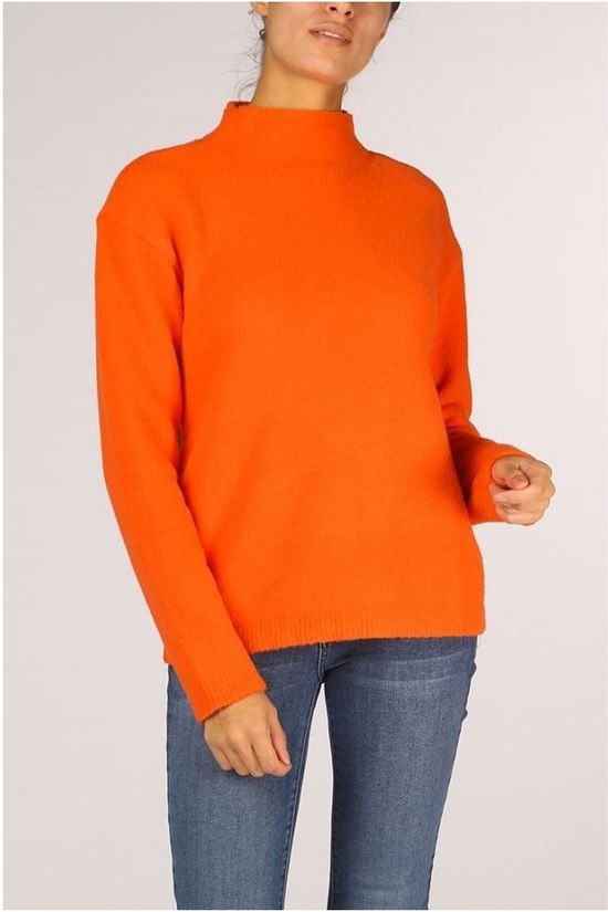 Yaya Trui Turtle Neck Wide Sleeve Oranje