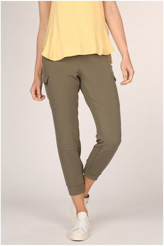 Yaya Trousers ed Cargo With Ankle Cuffs And Folded Hems mid khaki
