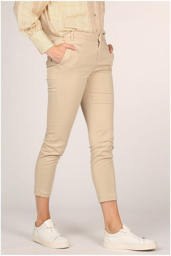 Yaya Trousers Cotton Blend Chino With Front Pockets light grey