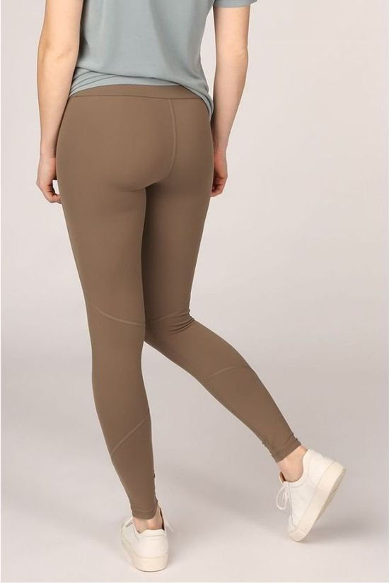 Yaya Leggings Stretch With Seamlines And Large Waistband mid brown