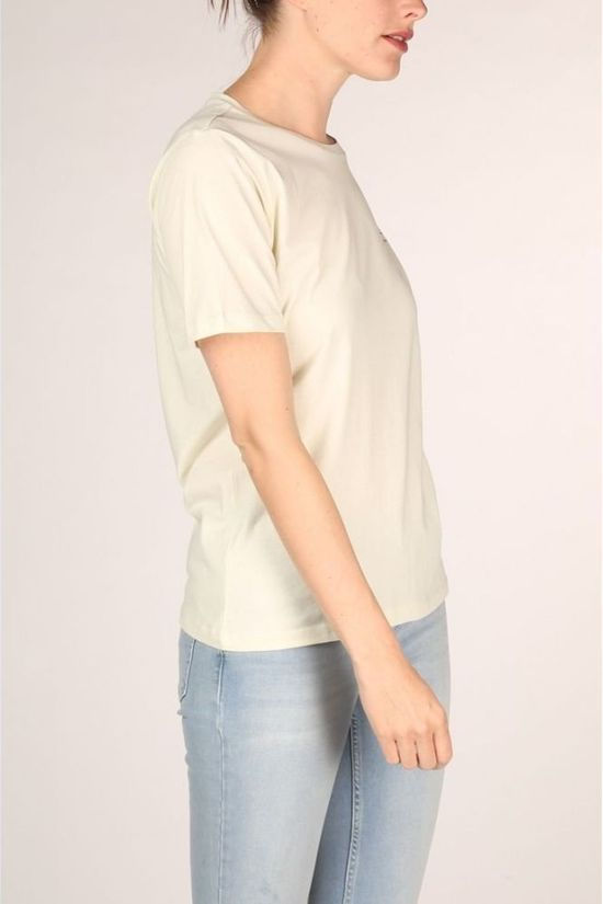 Yaya T-Shirt Cotton With Quote Vert Clair