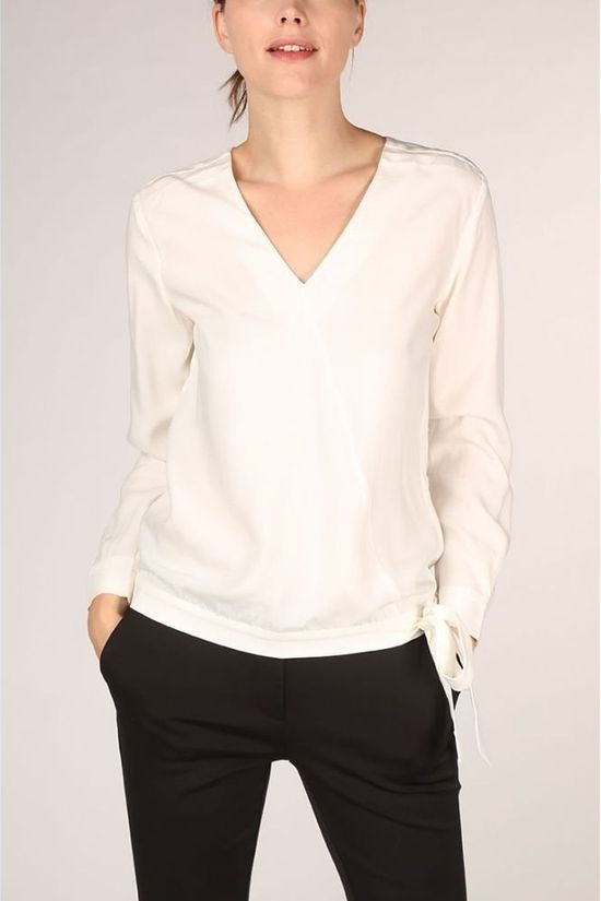 Yaya Blouse Modal Faux Wrapped ed Detail Wit