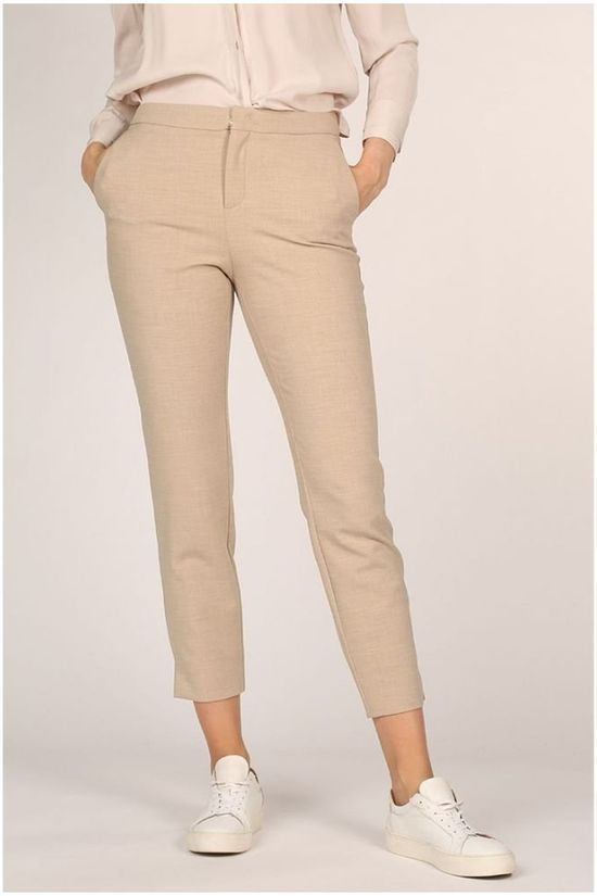 Yaya Broek Slim Small Splits On Sides Zandbruin