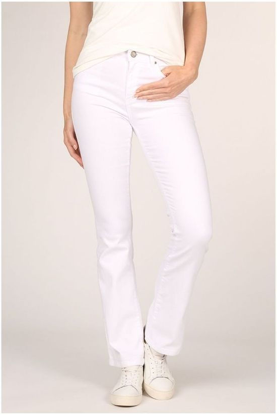Yaya Jeans High Waist Flared Blanc