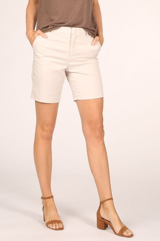 Yaya Short Woven Long Tailored Ecru