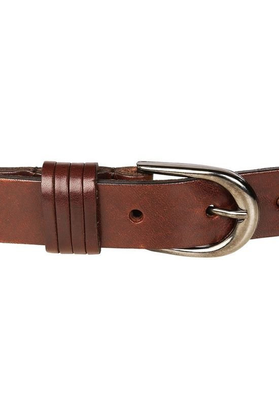 Yaya Belt Basic Leather mid brown