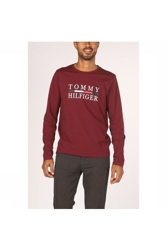 Tommy Hilfiger T-Shirt Tommy Hilfiger Long Sleeve Bordeaux