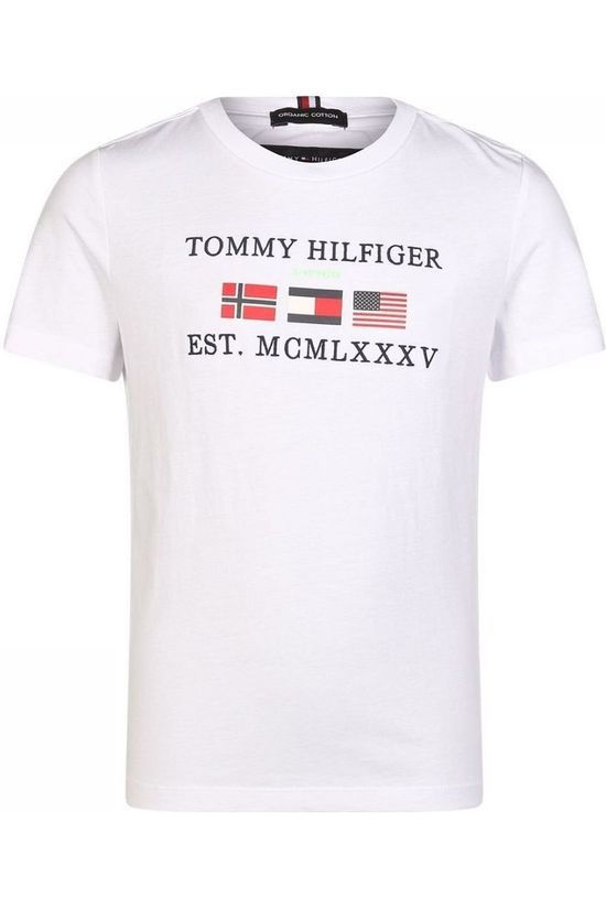 Tommy Hilfiger Polo Graphic F/B S/S Wit