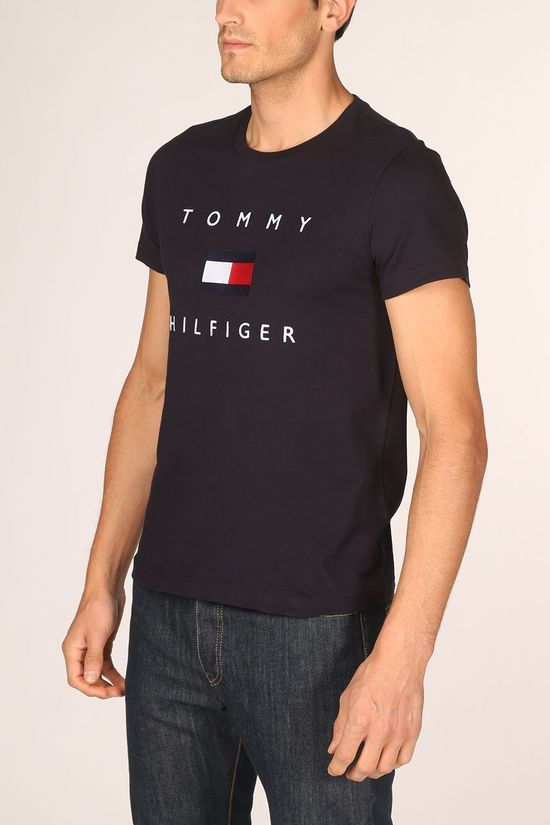 Tommy Hilfiger T-Shirt Tommy Flag Hilfiger dark blue