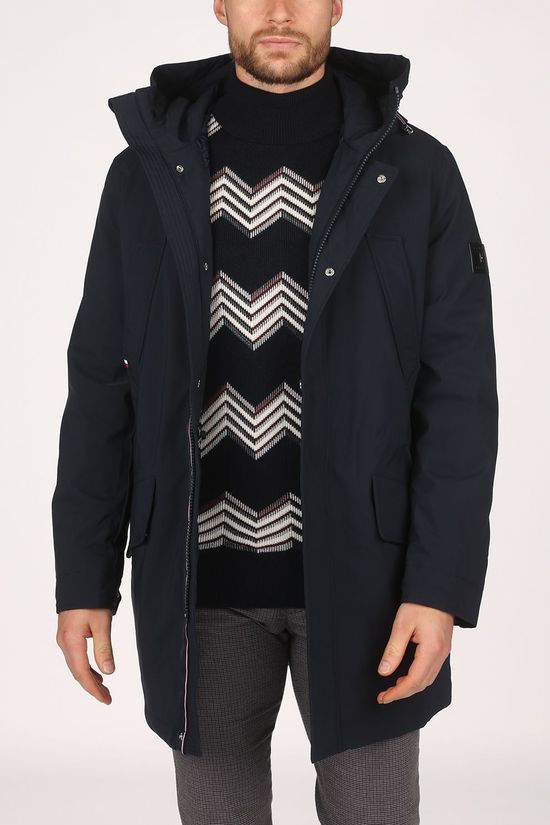 Tommy Hilfiger Coat Light Padded Parka dark blue