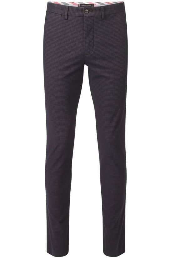 Tommy Hilfiger Trousers Denton Yd Brushed Puppytooth Dark Blue/Ass. Geometric