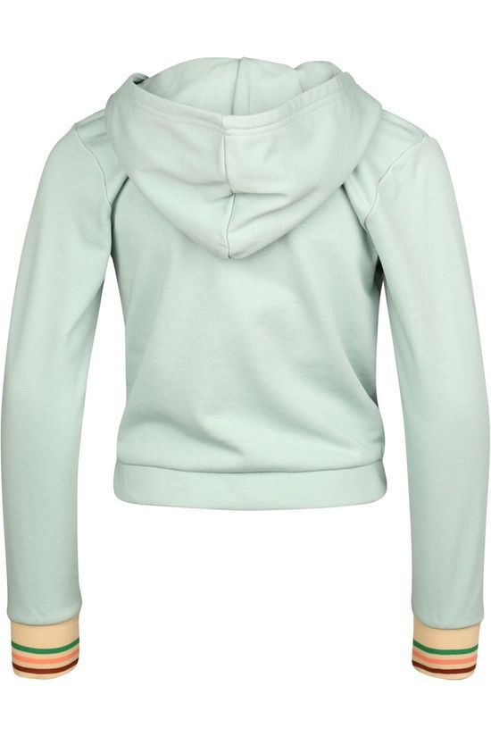 Like Flo Cardigan Flo Girls Hooded Sweat light green