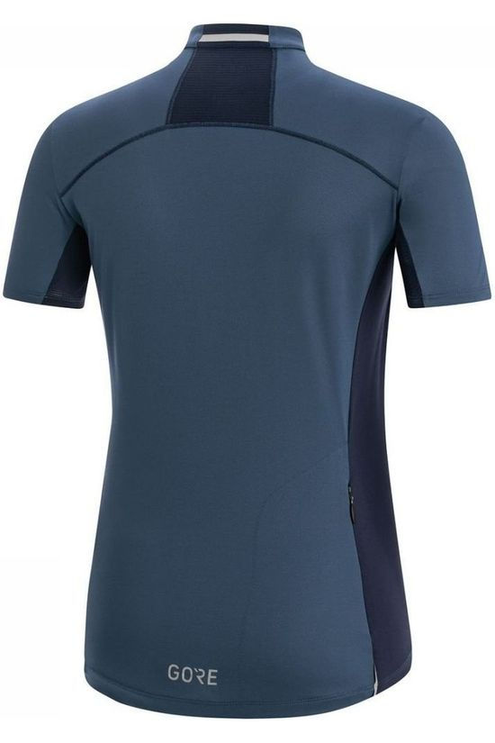 Gore Wear T-Shirt C3 Zip Donkerblauw