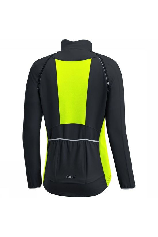 Gore Wear Coupe-Vent C3 Gore Phantom Zip-Off Noir/Jaune