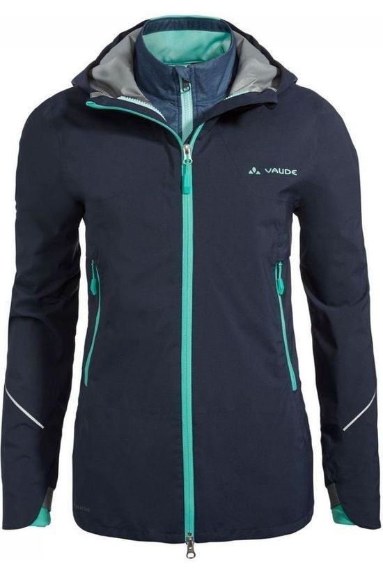Vaude Cycling Jacket Yaras 3In1 Dark Blue/Turquoise