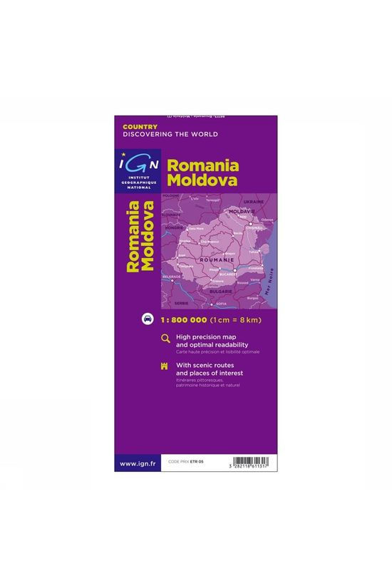 IGN Carte Roumanie - Moldavie - 86113 2005
