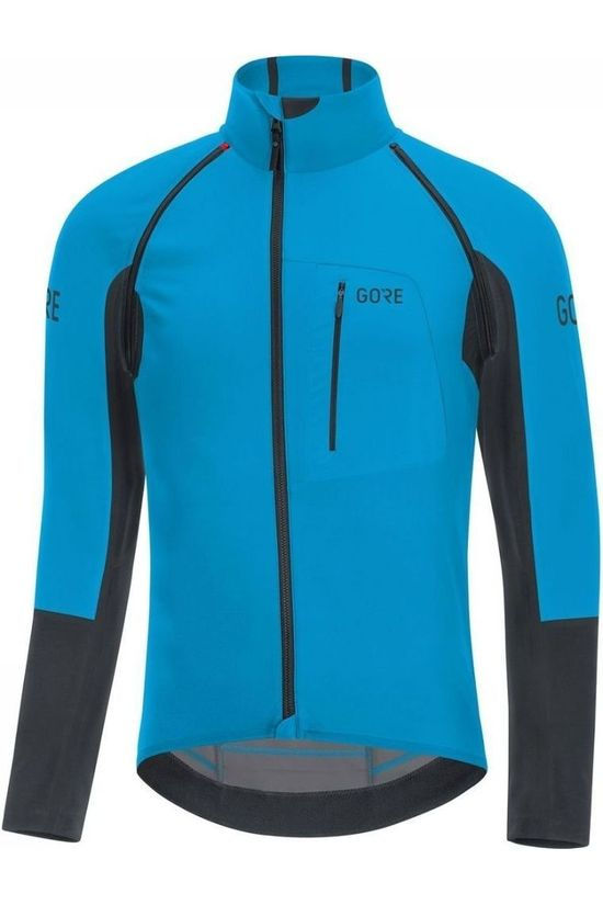 Gore Wear T-Shirt C7 Gore Windstopper Pro Zip-Off Marineblauw/Zwart