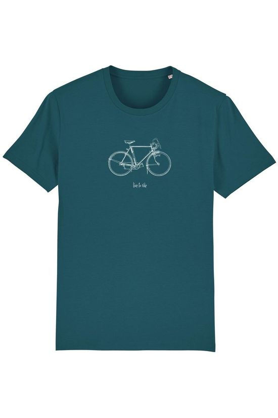 The Vandal T-Shirt Live To Ride Middenblauw