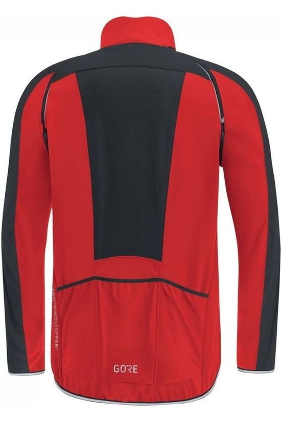 Gore Wear Windstopper C3 Phantom Zip-Off Rood/Zwart