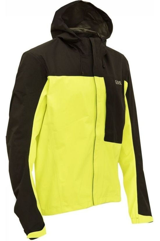 Gore Wear Coat C3 Gore-Tex Paclite Hooded mid yellow/black