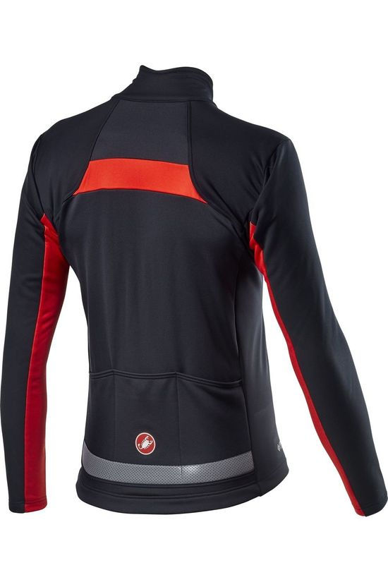 Castelli Cycling Jacket Mortirolo Vi black/mid red