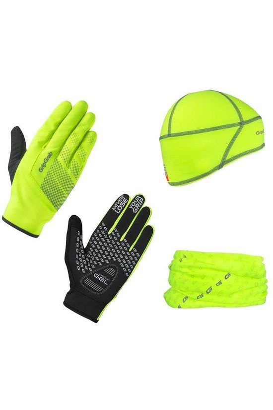 GripGrab Accessoire Hi-Vis Cycling Essentials light yellow/black